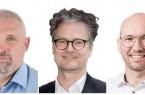 Henry Georges (LKA Hamburg), Michael Gröber (D-TRUST) und Stefan Cink (Net at Work) informieren über den sicheren Dialog mit verschlüsselten E-Mails für die öffentliche Verwaltung