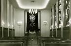 Innenaufnahme der Paderborner Synagoge aus dem Jahr 1959/60. (Rolf Ertmer © Stadt- und Kreisarchiv Paderborn)