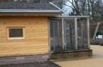 Bei der neuen Voliere handelt es sich um einen Erweiterungsbau mit Gründach.Foto:Stadt Gütersloh