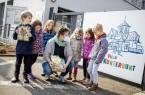 Große Freude in der Kita Villa Kunterbunt. Bertelsmann spendet Bücher im Wert von 5.800 Euro an die Gütersloher Kitas. (Copyright: © Bertelsmann, Sven H. Hillert)