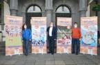 Präsentieren die Roll-up-Banner zur Kampagne: (v. l.) Simone Cramer vom Sportservice der Stadt Paderborn, Bürgermeister Michael Dreier und Stadtsportverbandsvorsitzender Mathias Hornberger.Foto: © Stadt Paderborn