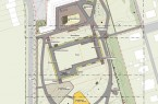 Ausschnitt aus dem Übersichtsplan zur Umgestaltung des ehemaligen Freibades an der Obernfelder Allee