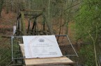 Da die tragende Substanz restauriert werden muss, ist die Brücke weiterhin gesperrt (Foto: Landesverband Lippe)
