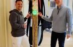 """Claude Diening (Praevito) (links) und  Dr. Marc Vathauer (Vathauer Medtech) (rechts)  bei Installation von """"KAY"""""""