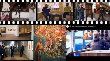 Digitale Angebote der Museen und Galerien des Landesverbandes Lippe bieten willkommene Abwechslung in der an Kunst und Kultur armen Zeit der Corona-Pandemie. (Collage: Landesverband Lippe)