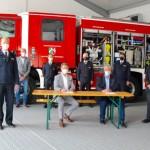 Landrat Michael Stickeln übergab Katastrophenschutz-Feuerwehrfahrzeug LF20-KatS