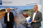 Stellten das IHK-Exportbarometer 2021 vor: IHK-Außenwirtschaftsausschussvorsitzender Oliver Höner und stv. IHK-Hauptgeschäftsführer Harald Grefe .Foto: IHK