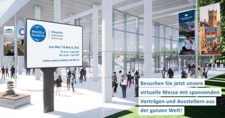 Jetzt anmelden: Neue virtuelle Messe rund um Auslandsstudium, Au Pair, Highschool-Jahr, Sprachschule und weitere Bildungsmöglichkeiten weltweit