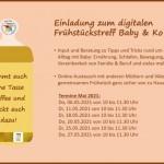 Erweitertes Angebot des digitalen Frühstückstreffs Baby