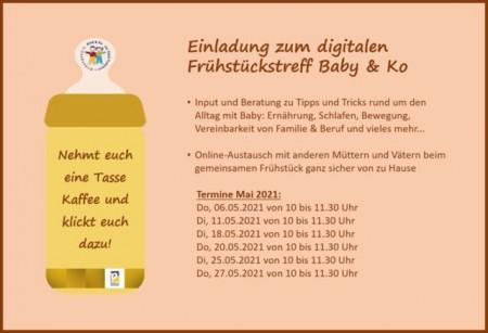 Das Angebot des digitalen Frühstückstreffs Baby & Ko wird wegen der großen Nachfrage auf einen weiteren Wochentag ausgeweitet.Bild:© Stadt Paderborn/Kind & Ko