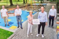 Zum Geburtstag von Liz Mohn: Bertelsmann spendet inklusiven Kinderspielplatz .Foto:Bertelsmann