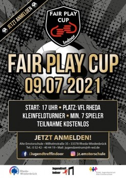 Programmflyer des Fair Play Cup