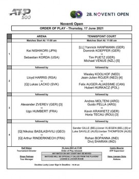 Order of Play (17.06.21)