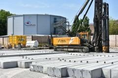 332 Stahlbetonpfähle für ein sicheres Fundament.Foto:Stadt Rietberg