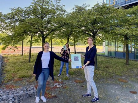 Marina Seipel (Kinderbüro vom Jugendamt der Stadt Paderborn), Annkatrin Domann (strategische Spielraumplanung) und Kerstin Friske (Amt für Umweltschutz und Grünflächen der Stadt Paderborn).Foto:© Jessica Menzel