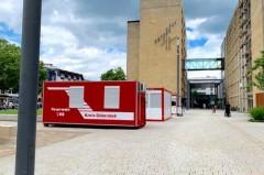 In der mobilen Impfstation am Gütersloher Rathaus kann man sich ohne Anmeldung eine Corona-Schutzimpfung verabreichen lassen. Foto:Stadt Gütersloh