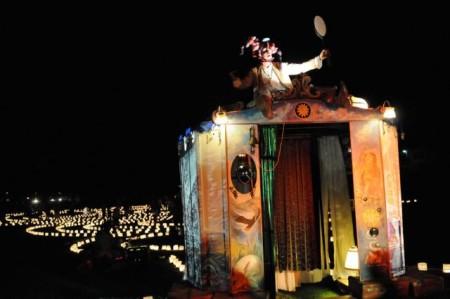"""Aus Berlin kommt das Theater ANU, das mit seiner """"grossen Reise"""" im Gräflichen Park auftritt. Copyright: Theater ANU"""