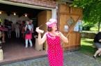 Antje Huismann alias Else Mögesie genießt Kultur in kleinen Häppchen beim neuen Kulturformat DenkMa(h)l Büren.