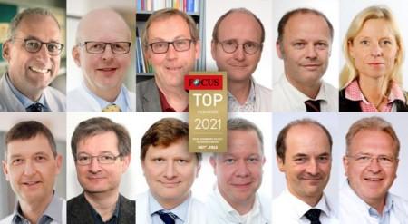 oben v. l.: Univ.-Prof. Dr. Christian Bien, Dr. Christian Brandt, Prof. Dr. Martin Driessen, Univ.-Prof. Dr. Eckard Hamelmann, Dr. Andrea Möllering; unten v. l.: PD Dr. Carsten Israel, Dr. Tilman Polster, Dr. Martin Reker, Prof. Dr. Matthias Simon, Prof. Dr. Thomas Vordemvenne, Prof. Dr. Florian Weißinger, Prof. Dr. Günther Wittenberg. Foto: EvKB