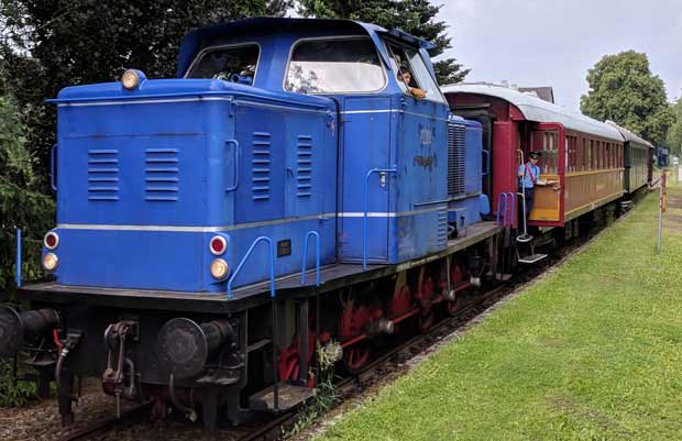 Der historische Museumzug der Landeseisenbahn Lippe in Farmbeck. Foto: ©Thorsten Ströver