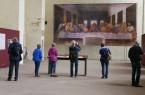 """Das letzte Abendmahl als Gemeinschaftserlebnis: Ab dem 15. August bietet das Kloster Dalheim wieder Führungen durch die Sonderausstellung """"Leonardo da Vinci. Das letzte Abendmahl"""" an. Foto: © LWL/Katharina Kruck"""