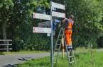 Die Beschilderung führt die Radfahrenden nun zwei Kilometer am Lippesee entlang.Foto: © Verkehrsverein Paderborn e. V.