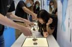 Besuch der DASA in Dortmund die unterschiedlichsten Arbeitsplatzbedingungen testen