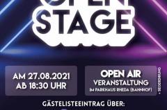 """Veranstaltungsplakat """"Open Stage"""""""