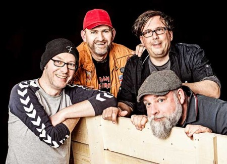"""Haben den neuen Kulturstrolche-Song komponiert: Die beliebte Bielefelder Band """"Randale"""". Foto: ©Steffi Behrmann"""