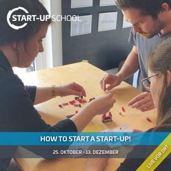 """Grafik (TecUP): Die """"TecUP Start-up School"""" unterstützt Gründungsinteressierte aus OWL bei der Entwicklung innovativer Unternehmensideen und vermittelt ihnen grundlegendes Methodenwissen zum Thema Unternehmensgründung."""