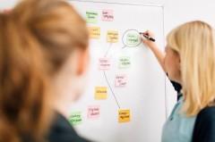 Handschriftliche Notizen, wie zum Beispiel Mind-Maps, sollen in Zukunft ganz einfach vom Whiteboard auf den Computer übertragbar sein.Foto Fraunhofer IEM