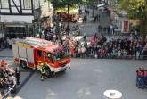 Fahrzeug der Detmolder Feuerwehr beim Tag der offenen Tür 2017 in der Innenstadt. Foto: Stadt Detmold