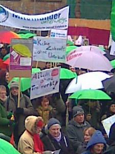 Demo am Aschermittwoch